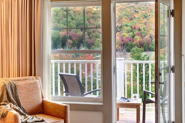 View from Guest Room Balcony with Fall Foliage