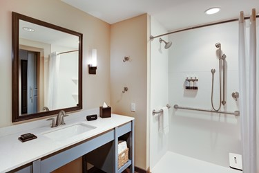 Accessible Walk-In Shower in Guest Room
