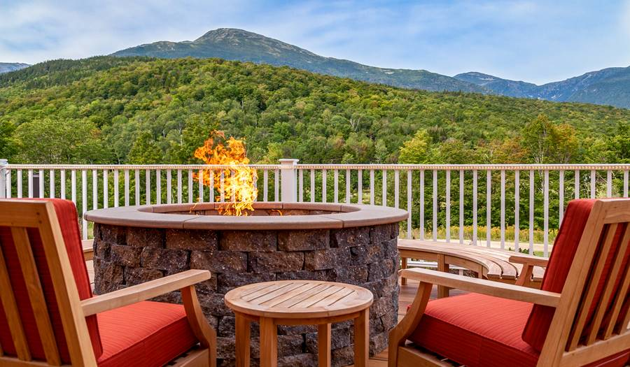 View of Mt Washington in Summer from Exterior Deck