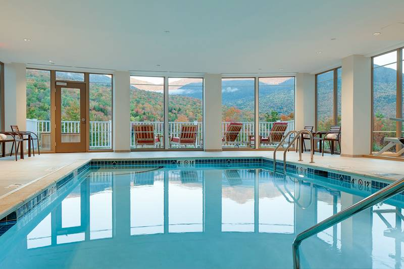 Indoor Saltwater Pool at The Glen House