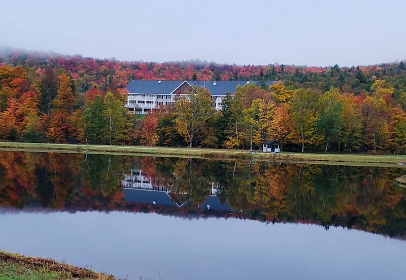 Wide View of Hotel in Fall