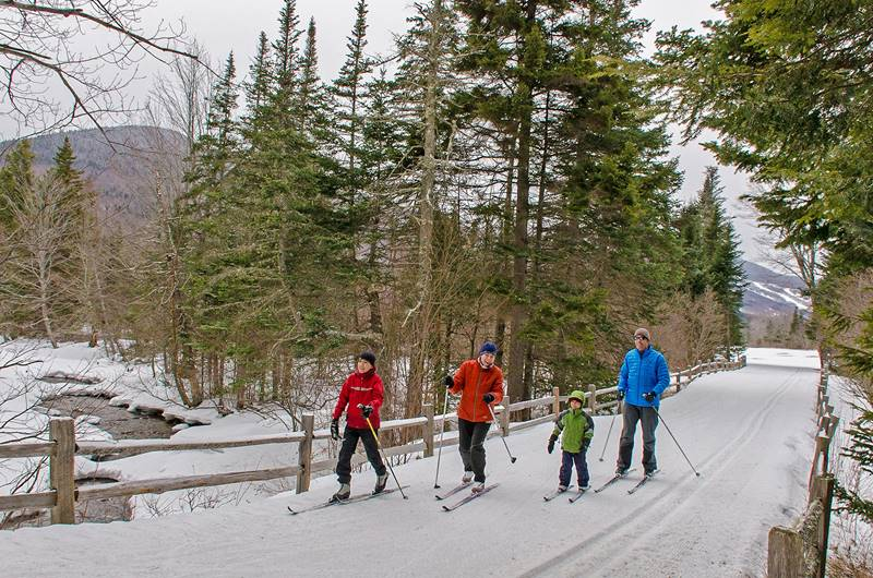Family Cross-Country Skiing at Great Glen Trails