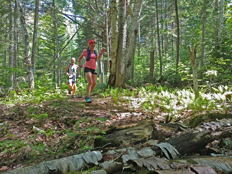 Couple Trail Running at Great Glen Trails